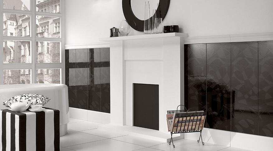 Villeroy & Boch BiancoNero dekor 30x90
