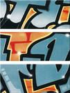 Steuler Graffiti petrol-orange 33x80cm Y33011001